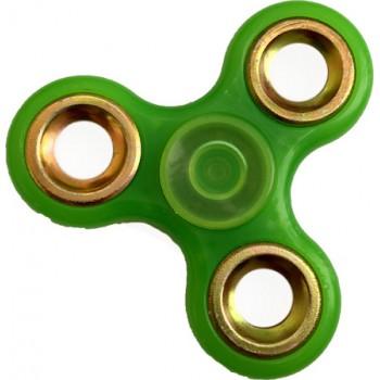 Αντι Στρες Triple Fidget Spinner Silver Circle 3 Minutes - Πράσινο