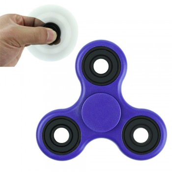 Αντι Στρες Triple Fidget Spinner Silver Circle 3 Minutes - Μοβ