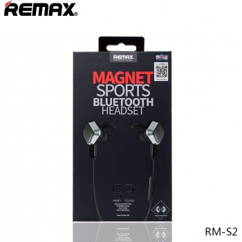Aκουστικά Remax Magnet Sports RM-S2 Bluetooth Headset μαύρα