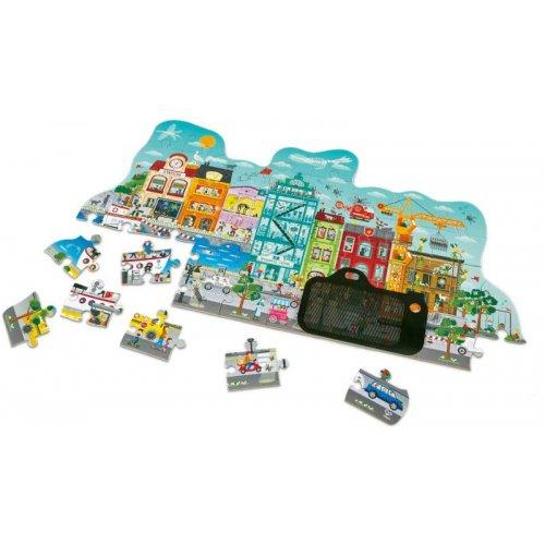 Hape Animated City Puzzle - Το Παζλ Της Μεγάλης Πόλης Με Εφέ Κίνησης - 49Τεμ. (E1629)
