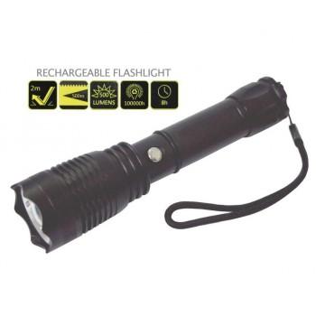 Επαναφορτιζόμενος Φακός με ZOOM 500 Lumens LED (Musang King)