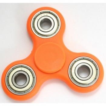 Αντι Στρες Triple Fidget Spinner Silver Circle 3 Minutes - Πορτοκαλί