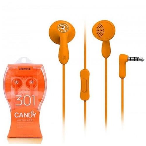 Earphone Remax RM-301 Candy-Πορτοκαλί