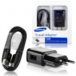 Samsung micro USB Cable & Wall Adapter Μαύρο (EP-TA20EBE + ECB-DU4EBE) (Retail)
