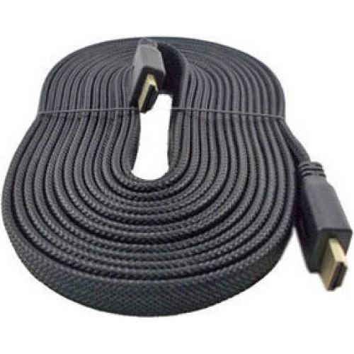 OEM Flat Braided HDMI 1.4 Cable HDMI male - HDMI male 5m (00009063)