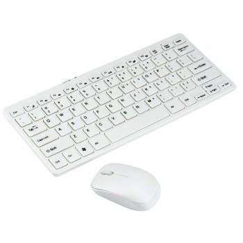 Ultra-Slim Mini Wireless Keyboard and Mouse (White) ZLY50