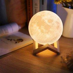 Επαναφορτιζόμενο Φωτιστικό Αφής Φεγγάρι 3D με LED Εναλλασσόμενο Φωτισμό και Τηλεχειριστήριο