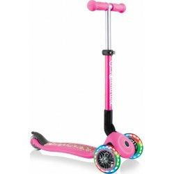 Globber Scooter Junior Foldable Fantasy Lights Flowers Neon Pink (433-110)